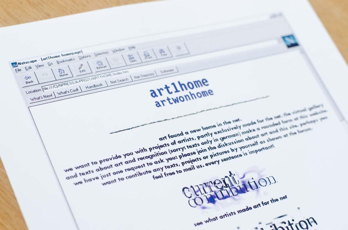 Ingo Moeller online seit 1995 Beispiel art1home Kunstwebsite