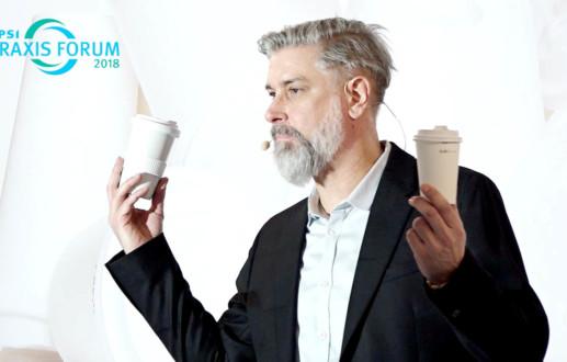 Speaker Ingo Moeller über Mugcircle, das Mehrwegsystem für Coffee to Go in Düsseldorf auf der PSI 2018
